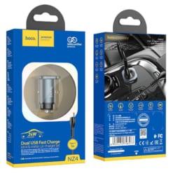 Tẩu sạc xe hơi Hoco NZ4 dong 24W có 2 cổng USB